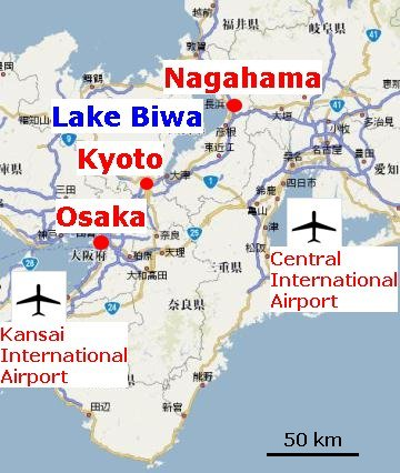 Image result for nagahama japan map